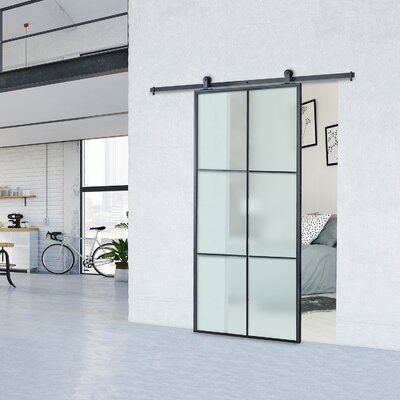 Oxford Clear Glass Panelled Metal Lexington Barn Door With Installation Hardware Kit Finis In 2021 Glass Barn Doors Frosted Glass Barn Door Glass Barn Doors Interior