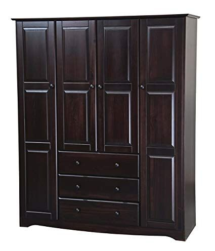 Solid Wood Armoire Design And Choices, Solid Wood Black Armoire