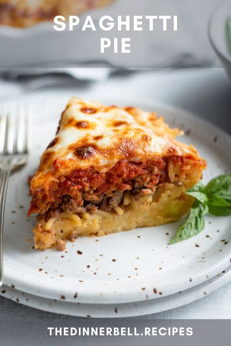 Spaghetti Pie is the best solution when you end up with leftover spaghetti noodles. The spaghetti becomes a savory pie crust topped with your favorite marinara, Italian sausage, and melty mozzarella cheese.