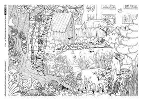 Garten Tiere Wimmelbild Wimmelbild Ausmalen Ausmalbilder Tiere