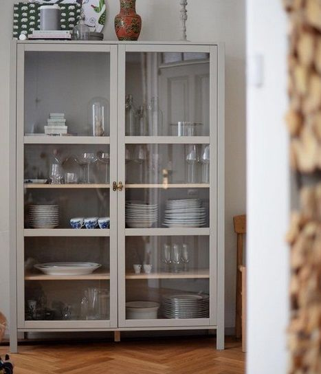 Glass Vitrines Ikea Glass Cabinet Dining Room Storage Home