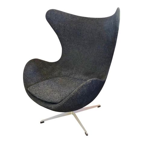 1960s Vintage Arne Jacobsen Egg Chair Chair Egg Chair Leather