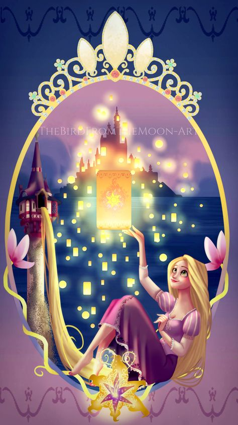 "Gleam and Glow by TheBirdFromTheMoon.deviantart.com on @DeviantArt - Rapunzel from ""Tangled"""