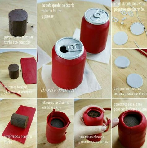 Soda Can Cake Picture Tutorial                                                                                                                                                     More