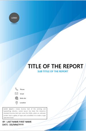 Download cover page templates for MS Word