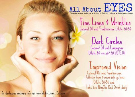 Young Living Essential Oils: Eyes, Dark Circles, Vision, Wrinkles. For more info or to order www.EssentialOilsEnhanceHealth.com