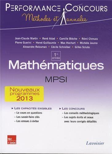 Telecharger Mathematiques Mpsi 1re Annee Pdf Gratuitement Livre In 2020 Math Amazon Books Education