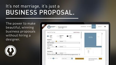 Proposal Generator (Web) - Create stress-free, eye-catching - business proposals