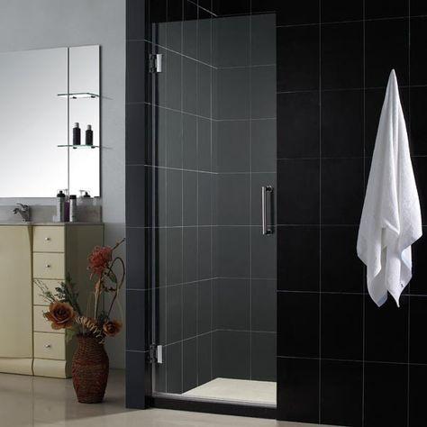 Make Your Bathroom Unique With Dreamline 23 X 72 Unidoor 3 8 Glass Frameless Shower Doo Frameless Hinged Shower Door Frameless Shower Doors Shower Doors