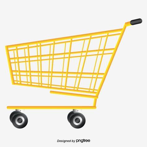 Amarelo Carrinho De Supermercado Shopping O Carrinho De Compras