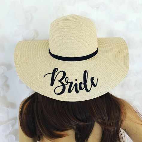 a8fbfd8c0e1 Excited to share this item from my  etsy shop  Personalised Bride Sun Hat