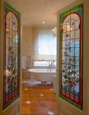 Stained Glass Bathroom Doors By Restless Soul