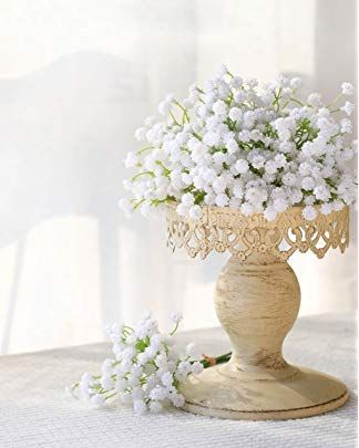 Luyue Baby Breath Flowers Artificial Fake Babies Breath Flowers In Bulk For F With Images Babys Breath Centerpiece Wedding Wedding Centerpieces Wedding Flower Arrangements