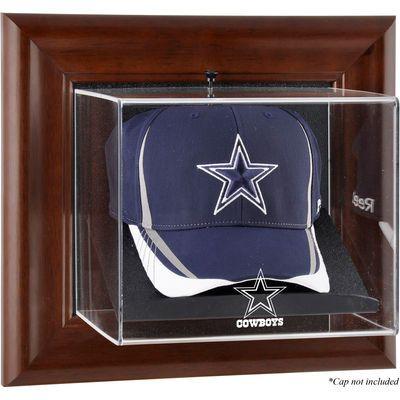 Dallas Cowboys Fanatics Authentic Brown Framed Wall Mountable Baseball Cap Display Case Frames On Wall Dallas Cowboys Decor Dallas Cowboys