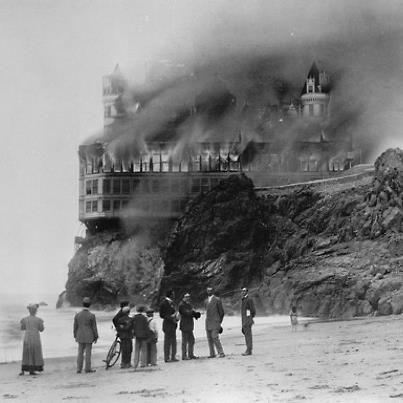 Cliff House Fire, San Francisco, 1907