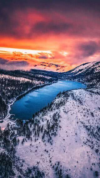 Rose Iphone Wallpaper Lake Tahoe Scenery Scenic