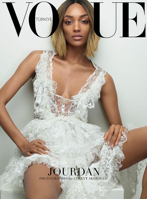 Alessandra Ambrosio, Behati Prinsloo Cover Vogue Turkey in White Dresses