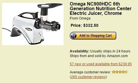 Omega NC900HDC 6th Generation Nutrition