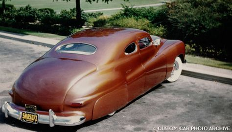 Jack Stewart 41 Ford coupe by Barris, 3/4 rear, photo courtesy Rik Hoving, Custom Car Chronicle