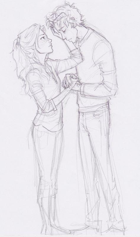 Картинка влюбленная пара карандашом