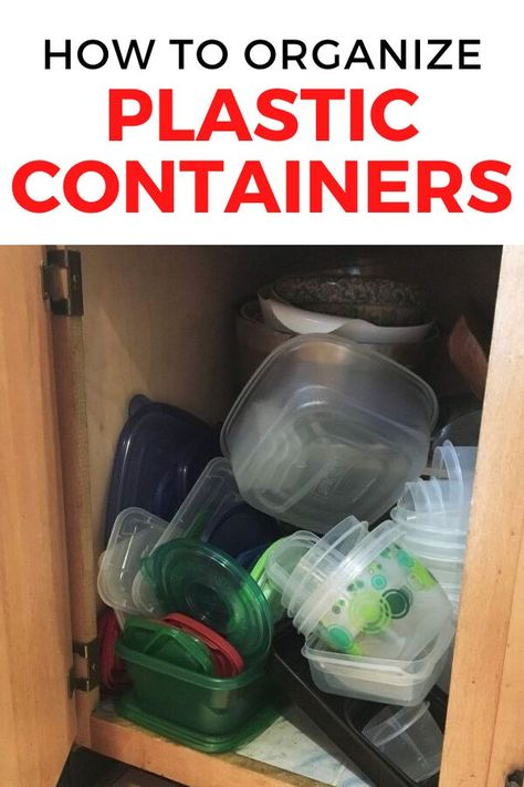 Tired of your messy kitchen drawers? check out these best wa to organize plastic containers and lids. Cheap and easy dollar store kitchen storage ideas. #hometalk