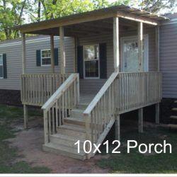 Porch Ideas For Houses In 2020 Mobile Home Porch Building A Porch Porch Design