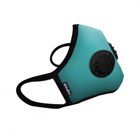 masque anti pollution bleu