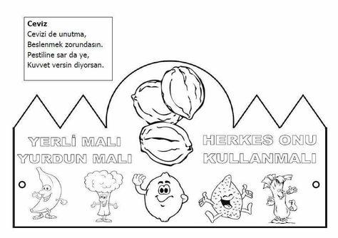 Yerli Mali Boyama Sayfalari Okul Oncesi Ve Faaliyetler