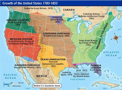 The Map Including Florida Cession From Spain Louisiana - Map of us after louisiana purchase