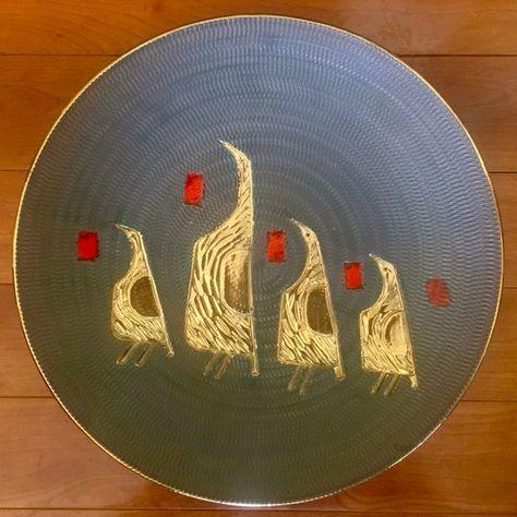 Mid Century Italian Modern Ceramic Wall Plate