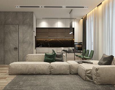Modern Flat In Moscow Dizajnerskie Gostinye Gostinye Loft