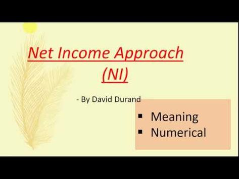 NI Approach - Definition with Numerical | Financial management, Definitions,  Approach