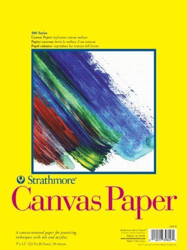 Strathmore 300 Series Canvas Textured Surface Paper Pad