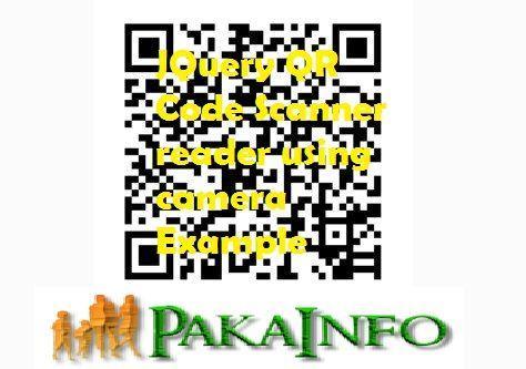 JQuery QR Code Scanner reader using camera Example | Angular