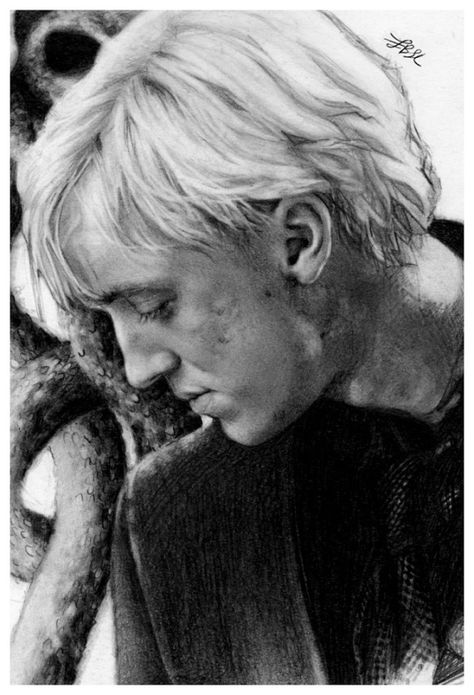 New Drawing Of Tom Felton As Draco Malfoy By Finangel Draco