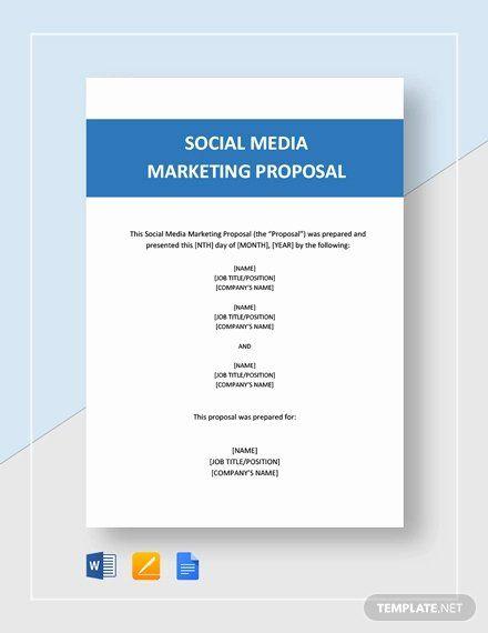 10 Social Media Proposal Templates Free Sample Example Format Download Free Premium Temp Marketing Proposal Proposal Templates Business Proposal Template