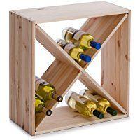 Zeller 13170 Croix Casier A Vin En Bois Naturel 52 X 25 X 52 Cm Etagere A Vin Etageres A Bouteilles De Vin