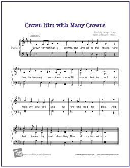 Crown Him With Many Crowns With Images Sheet Music Piano