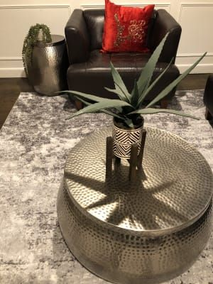 Silver Hammered Metal Cala Coffee Table World Market