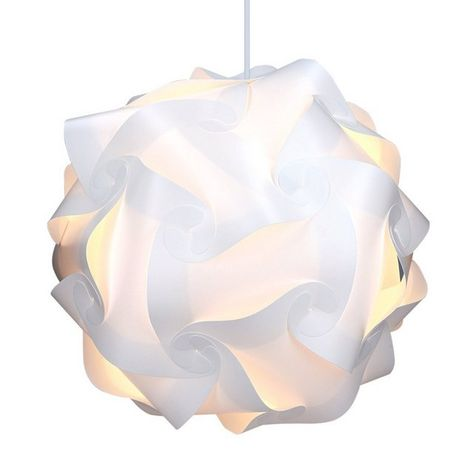 Kwmobile Diy Puzzle Lampshade Lotus Flower Jigsaw Iq Lamp Design Light Ceiling Pendant Light Or Standing Floo In 2020 Floor Lamp Shades Pendant Lamp Shade Diy Lamp