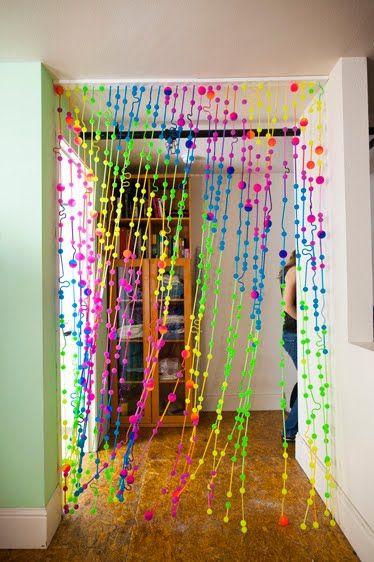 Bouncy ball curtain by me, Elizabeth Symington. Photos thanks to Luke Goodman. Oodles of...