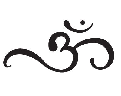 The Om symbol- Represents one's connection with the universe. Mind, body, and soul intertwined into one symbol, one sound. The sound of the universe.