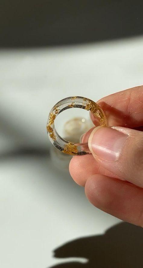 durable non bulky resin rings