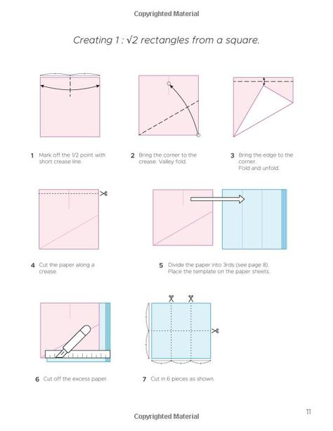 How To Make A 1 2 Rectangle Origami Paper Book 1