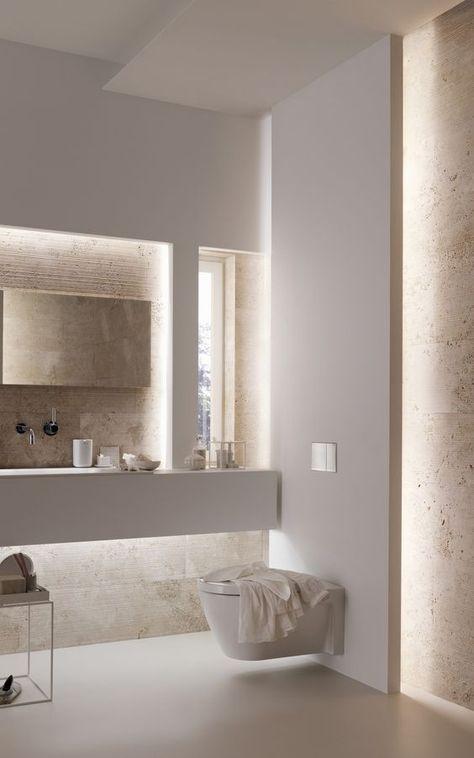 43 Creative Modern Bathroom Lights Ideas You Ll Love Goruntuler Ile Banyo Yeniden Modelleme Guzel Banyolar Luks Banyolar