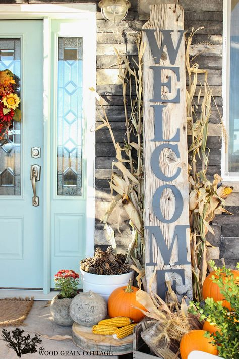 HUGE Front Porch Welcome Sign