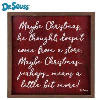 Dr Seuss Christmas Quote Wood Wall Decor Christmas Wood Wall Decor Christmas Wall Decor