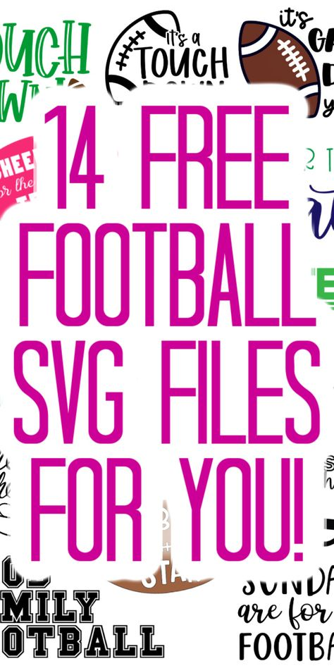 Download these 14 free football SVG files and use them on your Cricut to make some amazing projects this fall! You will love everything you can make with these cute files! #svg #svgfile #freesvg #cutfile #freecutfile