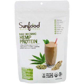 Sunfood Raw Organic Hemp Protein 8 Oz 227 G Discontinued Item Hemp Protein Raw Organic Hemp Protein Powder