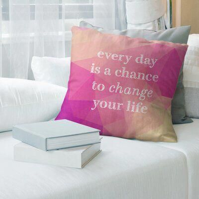 East Urban Home Faux Gemstone Change Your Life Pillow Quote Pillow Covers Suede Pillows Linen Pillow Covers